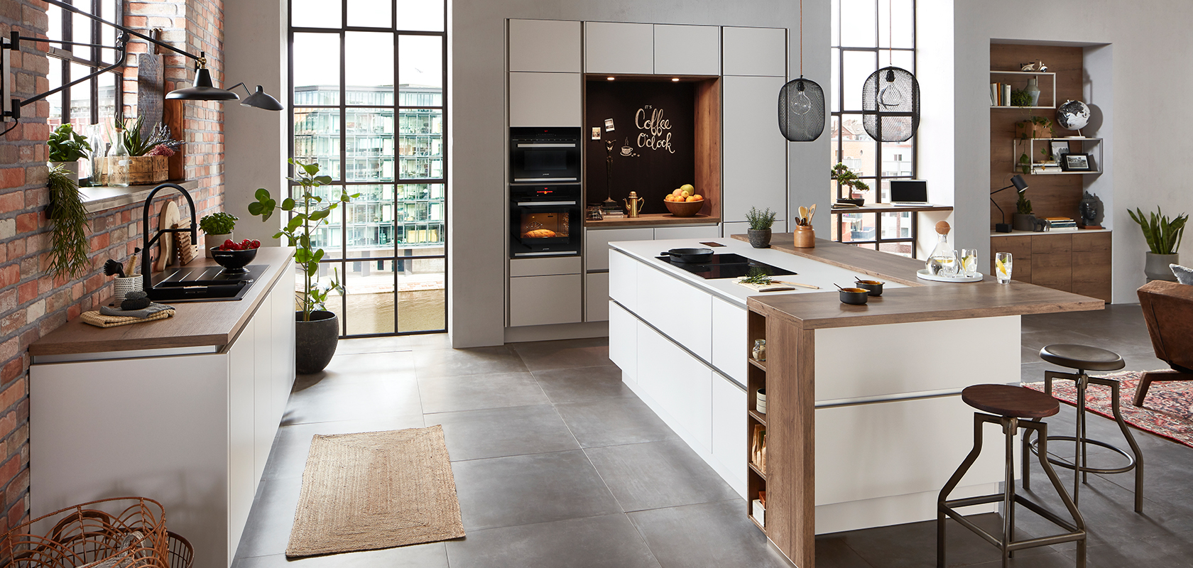 Nobilia Küchen N Line Fashion 171 Satin Grey Matt Designer Kitchens Line N