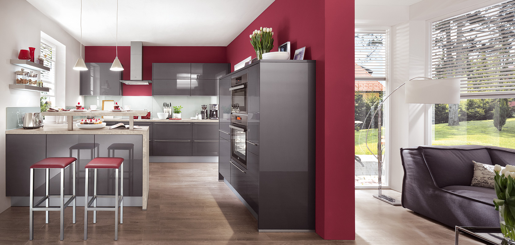 Küchen Von Nobilia Xeno 670 Anthracite Ultra High Gloss Modern Kitchens Nobilia