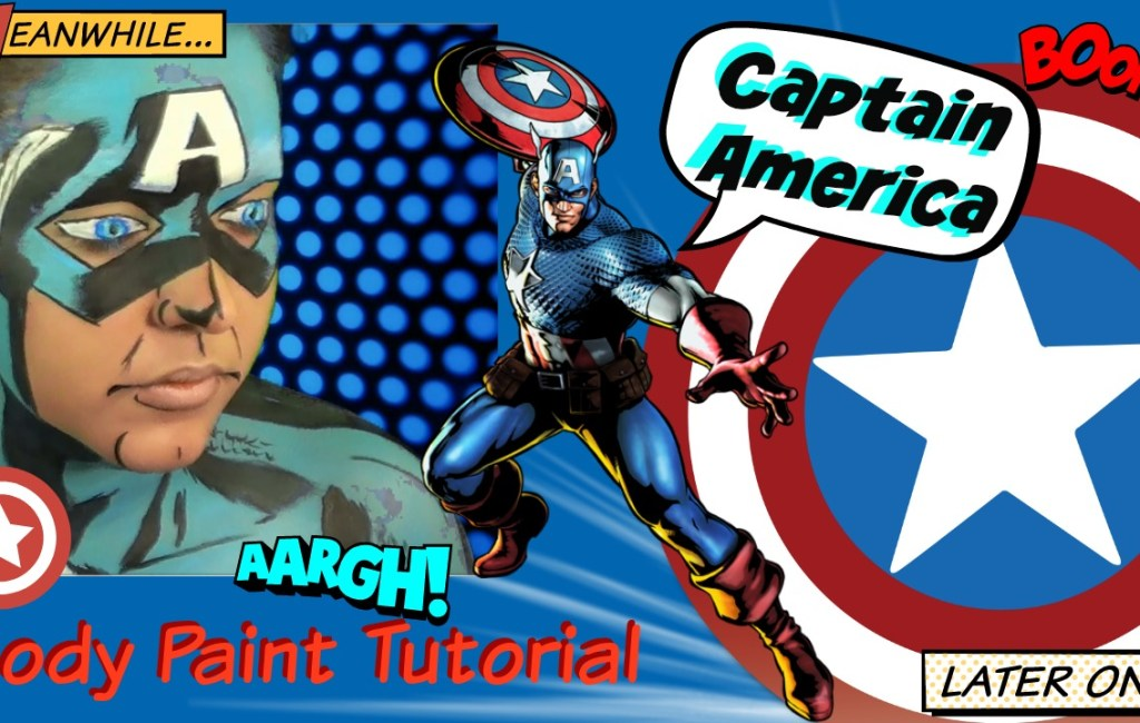 Marvel: Captain America Body Paint Tutorial