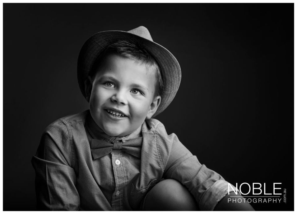 black and white kids portraits