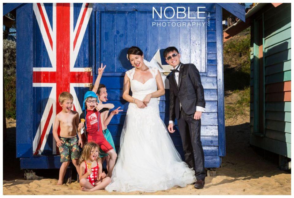 Australian beach pre wedding