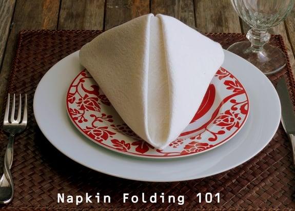 How To Fold A Dinner Napkin The Pyramid Fold
