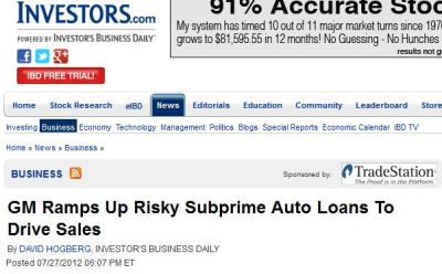 General Motors, the United States, and Predatory Lending