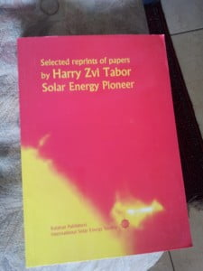 book 225x300 96 Year Old Solar Energy Genius Harry Zvi Tabor Talks To NoCamels About Pioneering Solar Power