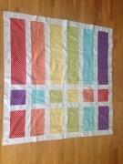 Rainbow Quilt Top (needs ironing)