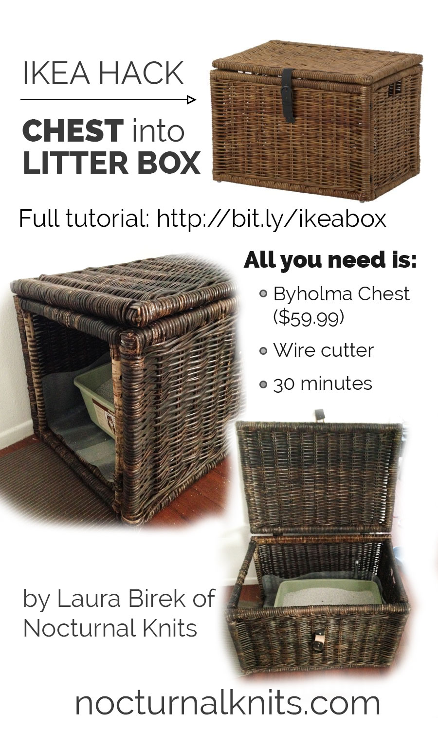 Ikea Box Frame 50 X 50 Ikea Hack Litter Box From Byholma Chest Nocturnal Knits