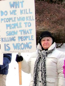 Donna outside the NH Supreme Court in January 2015