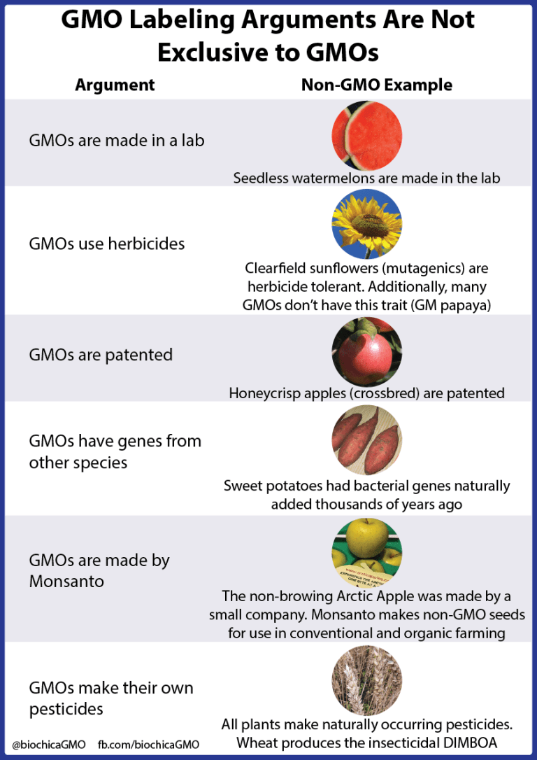 GMO Labeling Arguments Are Not Exclusive to GMOs