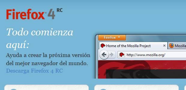 Mozilla Firefox 4 disponible el 22 de marzo