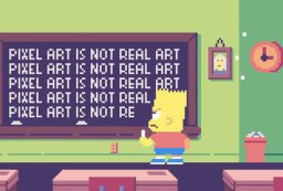 simpsons pixel art