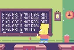 simpsons pixel art