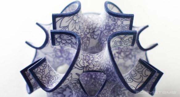 Elegant 3d printed sugar shapes