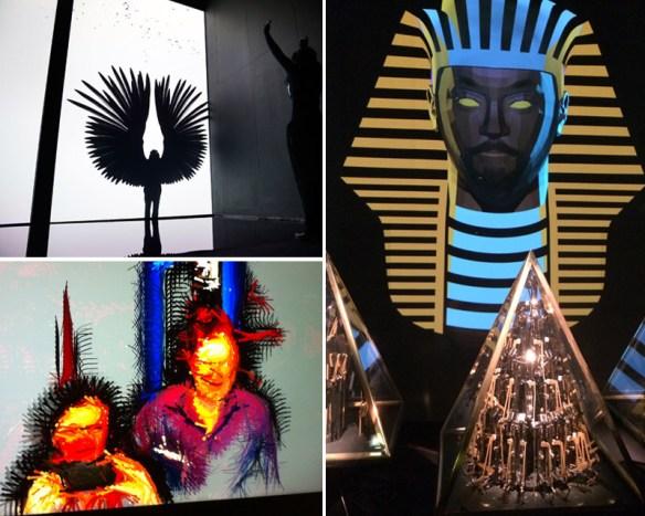 interactive art at the Digital Revolution exhibition