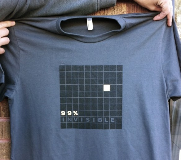 99% Invisible's T-shirt