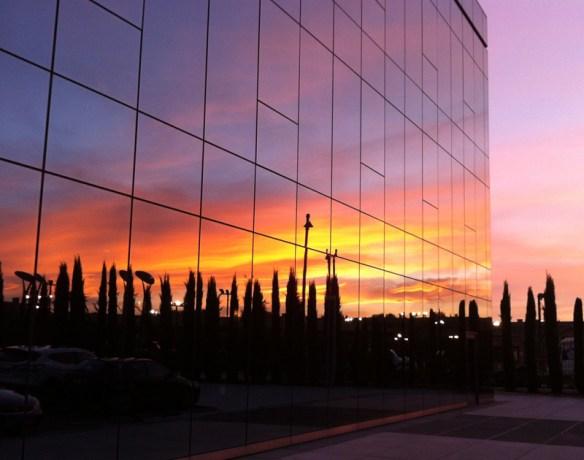 sunset in Pozuelo