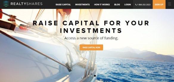 realtyshares crowdfunding platform