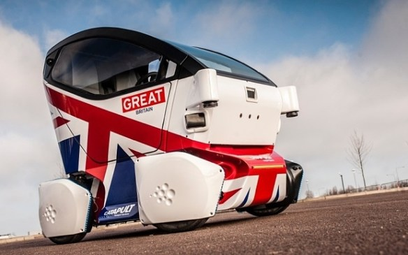 A driverless car in Milton Keynes, UK