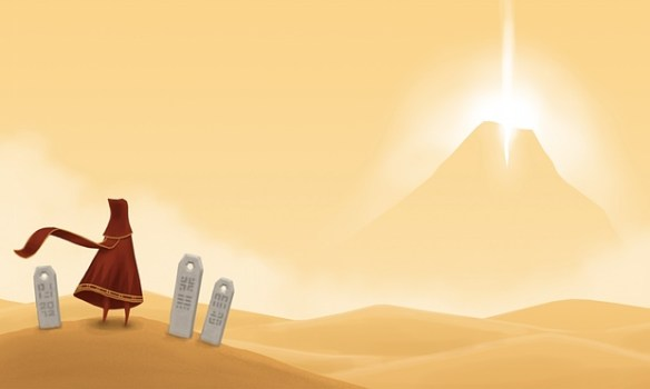 image from the game Journey, via The Guardian
