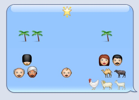emoji nativity scene