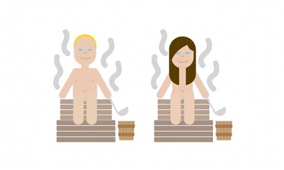 finnish emoji sauna