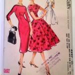 McCall's 1957 dress pattern.