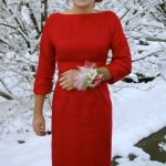 the red dress, circa 1957