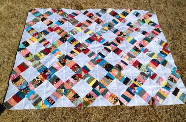 confetti scrap quilt