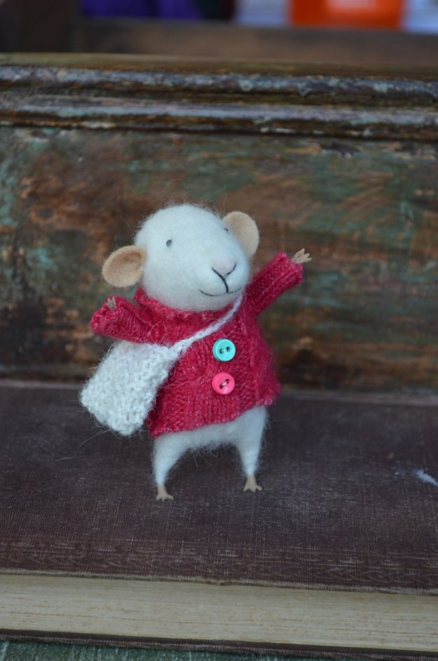 mouse in sweater