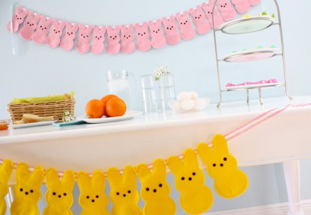 peeps garland, easy easter sewing crafts