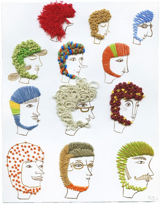 sarajo frieden, unique embroidery ideas