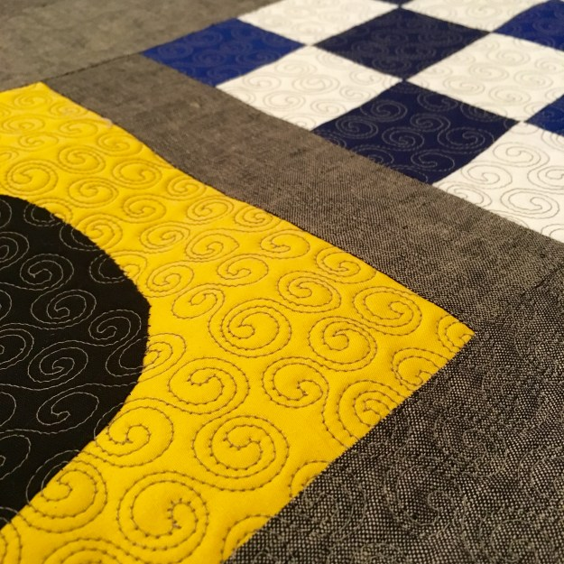 quilting detail, signal flags