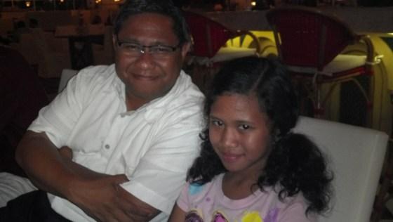 Ronny Serworwora and his daughter Michelle.