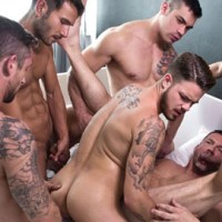 [Lucas Entertainment] Bareback Sex Party con Tomas Brand, Fabio Lopez, Fernando Torres, Misha Dante, Mark Sanz, Joey Pele y Nick North
