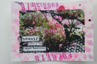 hydrangea photo transfer art || noexcusescrapbooking.com