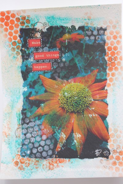 aster photo transfer art || noexcusescrapbooking.com
