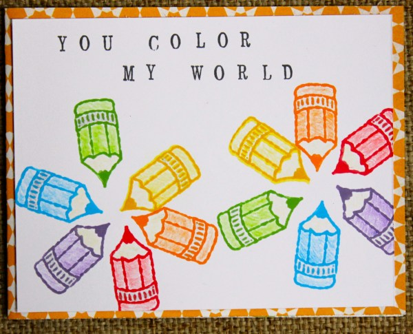 color my world card || noexcusescrapbooking.com