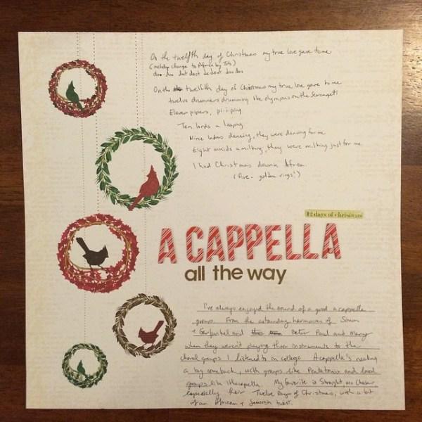 a cappella all the way || noexcusescrapbooking.com
