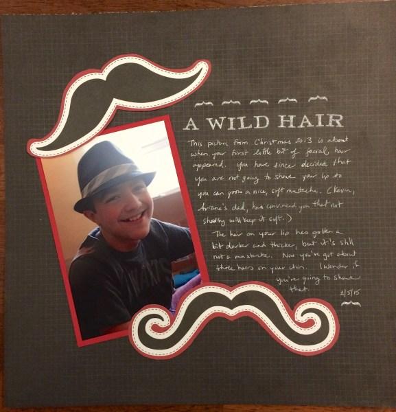 a wild hair || noexcusescrapbooking.com