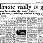 In 1958 the Sunday Telegraph reported climate change straight
