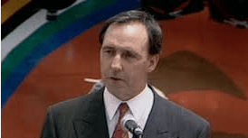 Paul Keating at Redfern Park