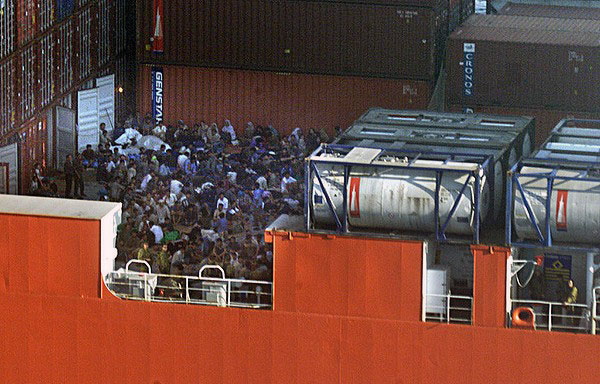 Asylum Seekers on the Tampa in 2001