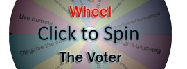 Spin the Voter Propaganda Wheel: Power and Persuasion