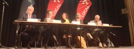 Wentworth candidates on stage at the Paddington RSL