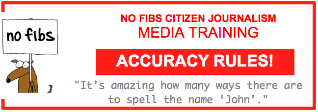 No Fibs media training Accuracy