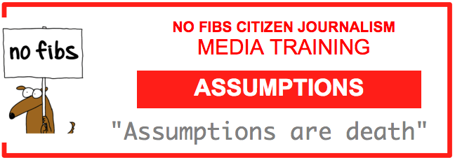 No Fibs media training Assumptions