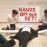 Protestors #floodpolluters – AGL Energy occupied in Melbourne @Takvera reports