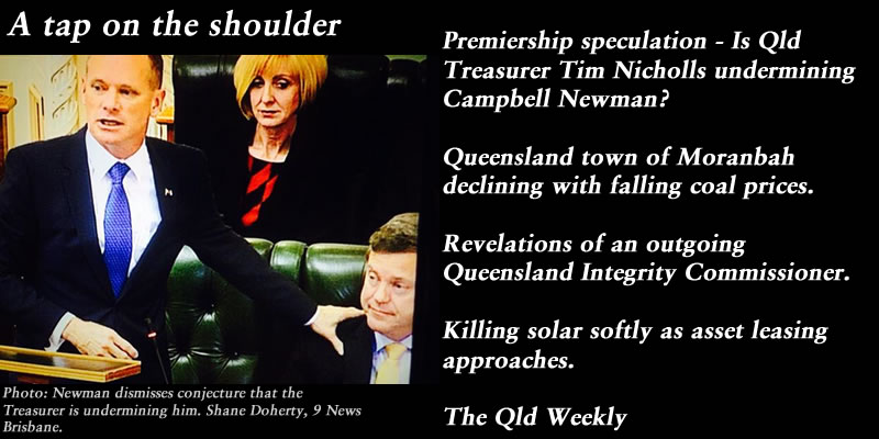 A tap on the shoulder – The Qld Weekly #qldpol: @Qldaah