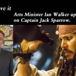 The Arrrs have it – Arts Minister updates the House on Captain Jack Sparrow, @Qldaah #qldpol