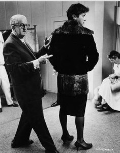 Orry-Kelly and Tony Curtis in costume fitting for Some Like it Hot.