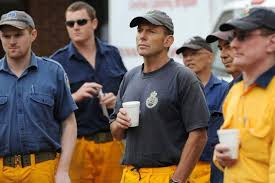 Tony Abbott with his local RFS.